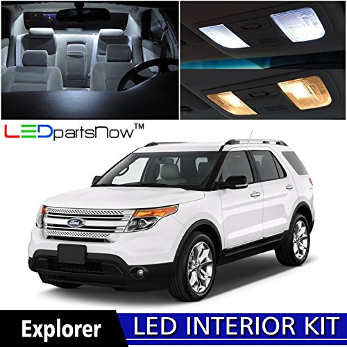 Ford Explorer Interior (LEDpartsNow 2011-2017 Ford Explorer LED Interior Lights Accessories Replacement Package Kit (6 Pieces), WHITE)