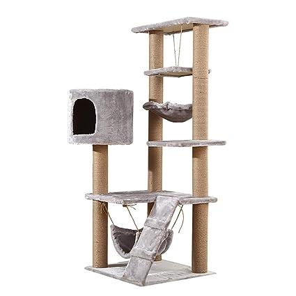 DJLOOKK Árbol rascador para Gatos Plus Velvet Cat Trepadora, Cat Scratching Column Cat Tree Multi