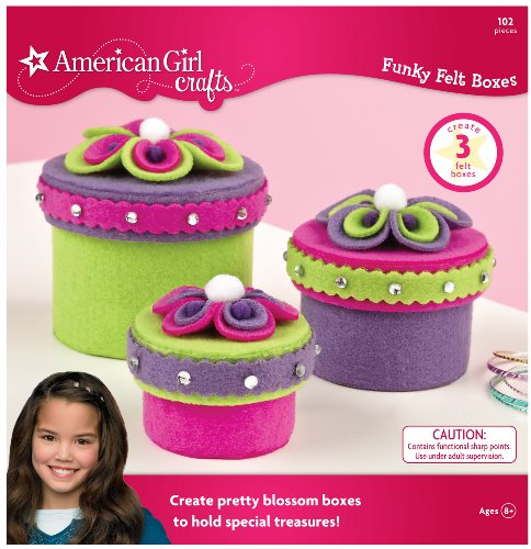 American Girl Crafts Felt Jewelry Box Girls Activity Kit, 103pc