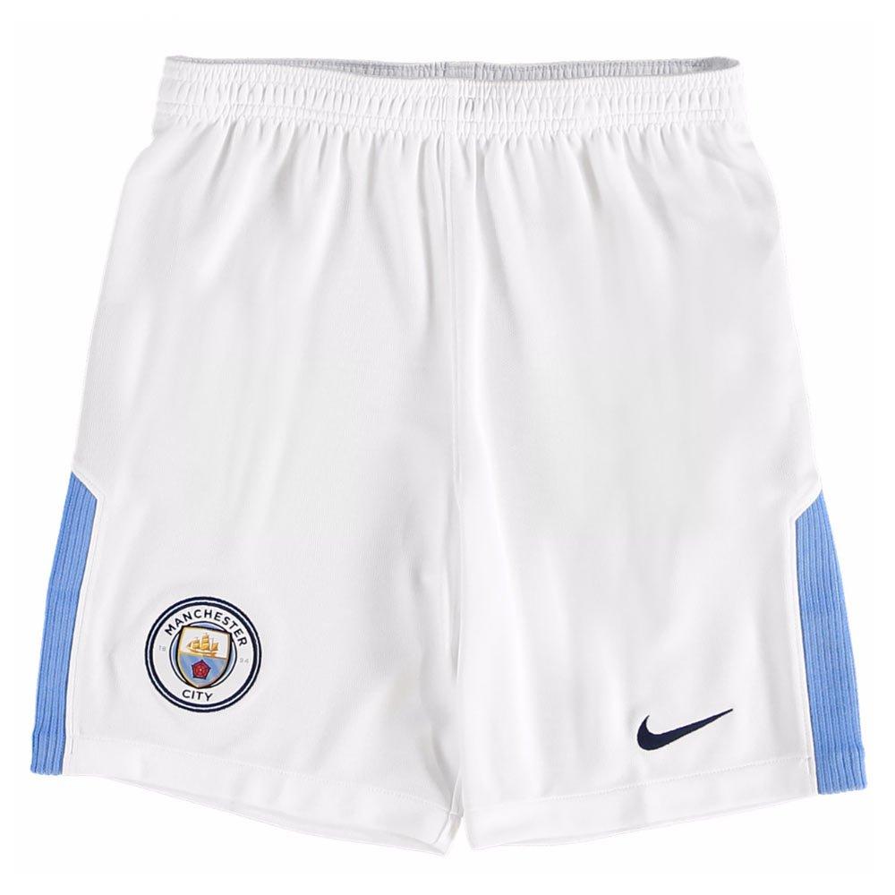 2017-2018 Man City Home Nike Football Shorts (Kids) B072MGM88WWhite SB 24-26\