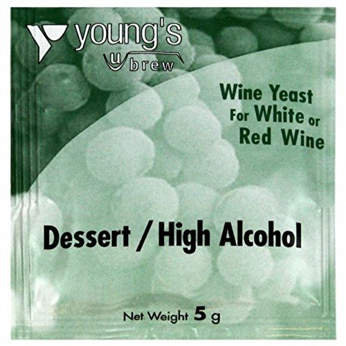 Youngs Brew Wine Yeast For White & Red Wine Dessert High Alcohol Yeast 5G Sachet