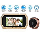 OWSOO Door Peehole Viewer Digital Peehole HD Camera 4.3'' LCD Peephole Viewer 160° PIR Door Eye Doorbell Camera IR Night Vision Photo Taking/Video Recording for Home Security