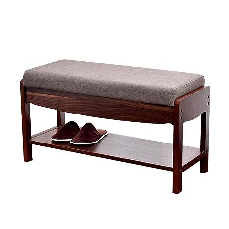 Amazon.com: Mueble de madera para zapatos con cojín de ...