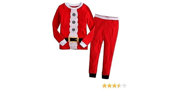 f63a5fcfcf52 Amazon.com  Hooyi Baby Boy Sleepwear Cotton Children Christmas Santa ...