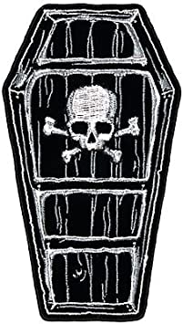"""SPIDER WEB IRON ON PATCH 3/"""" Outlaw Biker Punk Rocker NEW Embroidered Applique"""