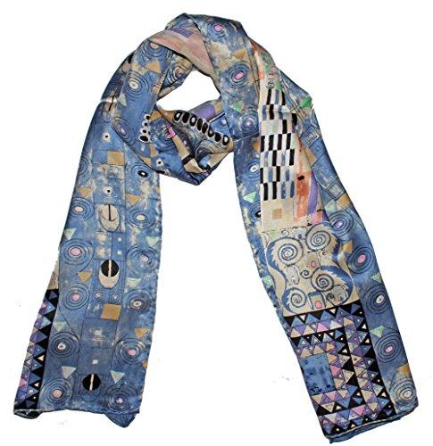 (Olina Women's High-Grade Elegant 100% Luxury Long Silk Scarf Shawl)