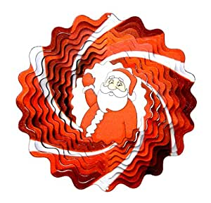 Spin Art Spinner Christmas Santa, Red/White, 31 X 34 Cm 12Dsa303