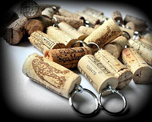 Amazon.com: 25 Vino corcho Llaveros – utilizar vino corchos ...