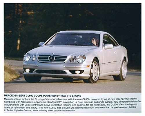 2001 Mercedes Benz CL600 Coupe Automobile Photo Poster from AutoLit
