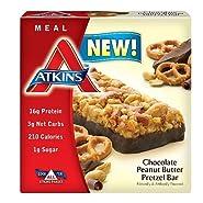 Atkins Chocolate, Peanut Butter, Pretzel Meal Bar, 8.5 Oz
