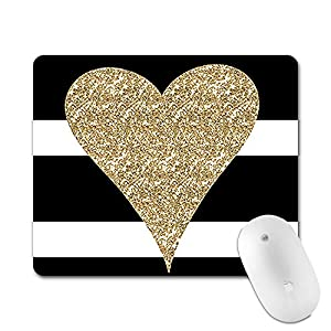 Professional Gaming Mouse Pad, Personalized Durable Non Slip Mouse Mat, Computer Desk Stationery Accessories Mouse Pads for Gift - Gold love