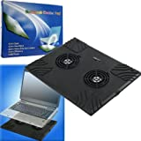 Laptop Buddy Notebook USB Cooling Pad with 2 Fans