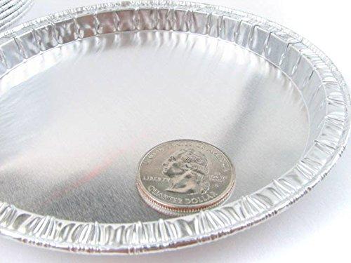 Disposable Aluminum Foil Moisture Balance Pans - 5'' Diameter- Pack of 100