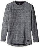DC Men's Woodrown Long Sleeve Top, Charcoal Heather, X-Large