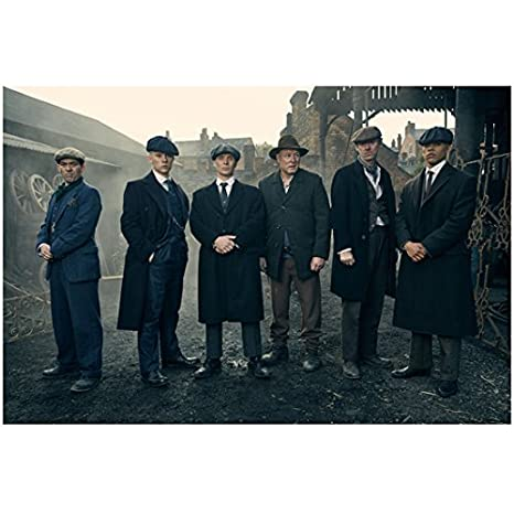 6ac0a363f02f8 Peaky Blinders Joe Cole as John Shelby Cillian Murphy as Thomas Shelby Ian  Peck as Curly and Ned Dennehy as Charlie Strong 8 x 10 Inch Photo at  Amazon s ...
