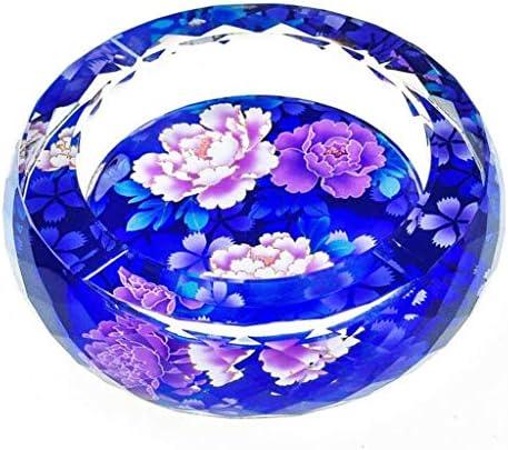 灰皿 , ホーム3Dクリスタル灰皿ファッション創造的なパーソナリティギフトラージブティックヨーロッパの灰皿のリビングルームの装飾 (サイズ : Diameter 18cm)