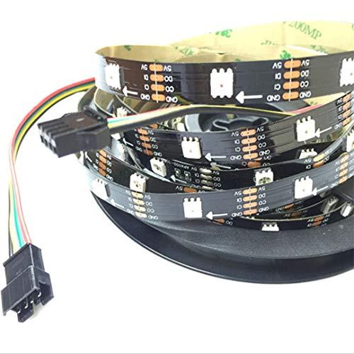BGFHDSD APA102 Full Magic Color Addressable Led Strip Light 5M 30LED/M DC 5V IP20 LED Programmable LED Strips Project Lights Black PCB by BGFHDSD (Image #6)