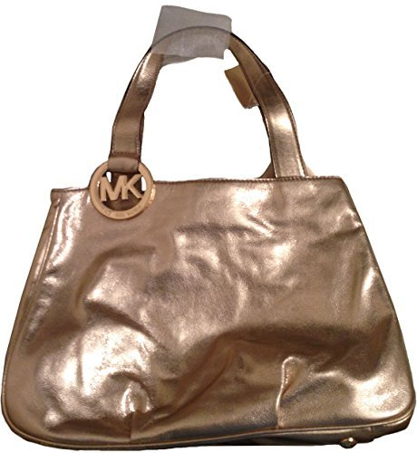 MICHAEL Michael Kors Large Fulton EW Leather Tote in Pale Gold