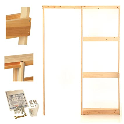 KD Wood Pocket Door Frame  sc 1 st  Amazon.com & 24 in. KD Wood Pocket Door Frame - Household Door Frames - Amazon.com