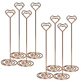 Magicfeel 10Pcs 8.6 Inch Tall Wire Spiral Card Note Photo Memo Clip Table Number Place Card Stand Holder for Wedding Party (Rose Gold)