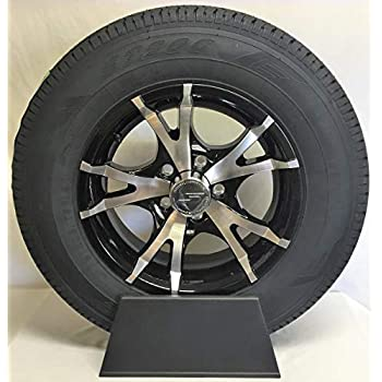 14 5 Lug Aluminum Trailer Wheel with tire ST205//75R14 T07-45545BM 5X4.5