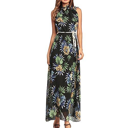 Valin HO576 Damen Ohne Arm Cocktail Maxi Kleid Sommerkleid ...