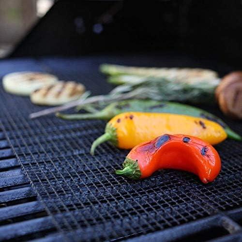 3 pcs Barbecue Maille Gril Tapis Griller Tapis antiadhésif Poisson légumes légumes Tapis, Outil de Barbecue