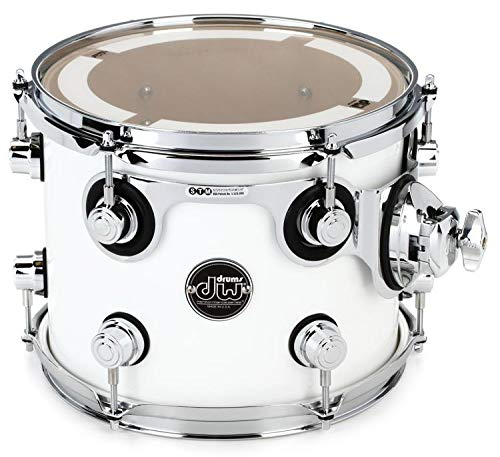 DW Performance Series Mounted Tom - 8'' x 10'' Gloss White Lacquer
