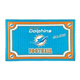 Team Sports America 41EM3816 Embossed Door Mat, Miami Dolphins, Multicolor