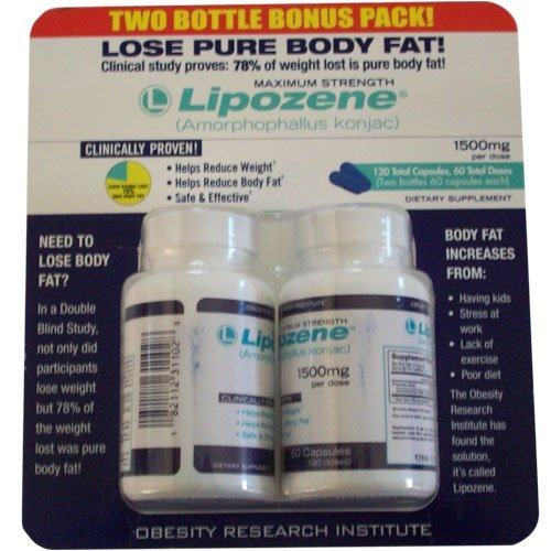 Lipozene Maximum Strength Fat Loss Supplement, 60 Capsules,