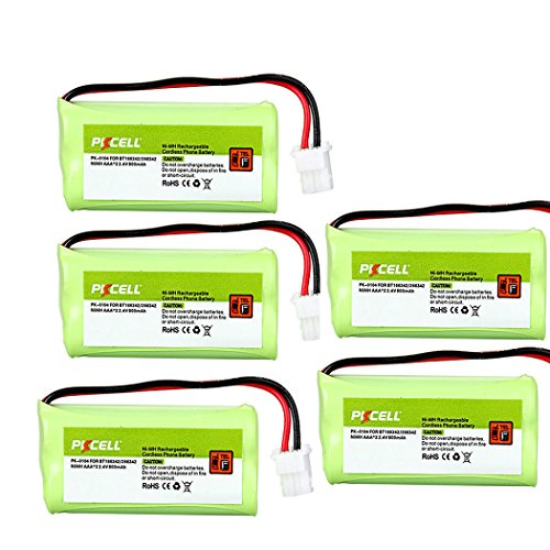 Cordless Home Phone Battery Pack AAA 2.4v 800mah Compatible with VTech BT166342 BT266342 (5pc)