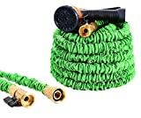 Ohuhu Expandable Garden Hose, ALL NEW 50 FT Expanding Water Hose, Lightweight Flexible Hose With 3/4 Solid Brass Fittings & 8 Function High Pressure Spray Nozzle