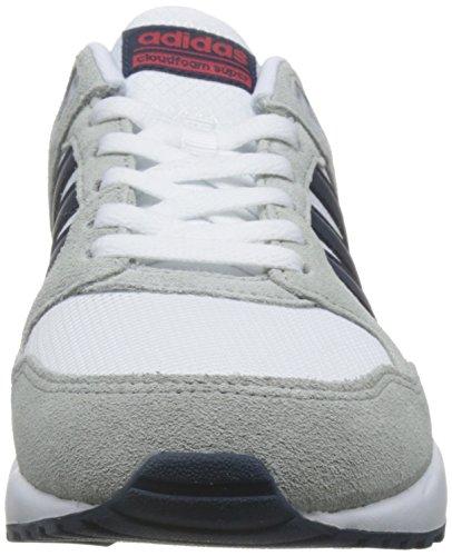 Adidas cloudfoam Super 20K, Baskets mode pour homme, Blanc–(Ftwbla/maruni/escarl) 42