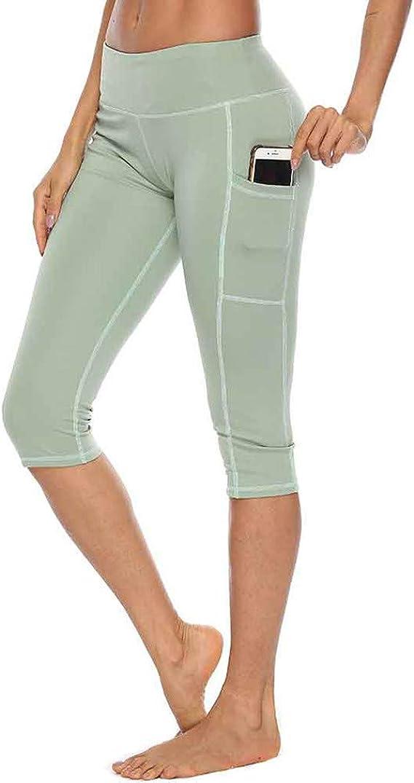RISTHY Leggings de Mujer para Gym con Bolsillos 3/4 Pantalones ...