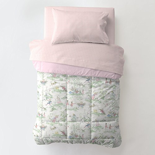 Carousel Designs Pink Over The Moon Toile 4-Piece Toddler Bedding ()
