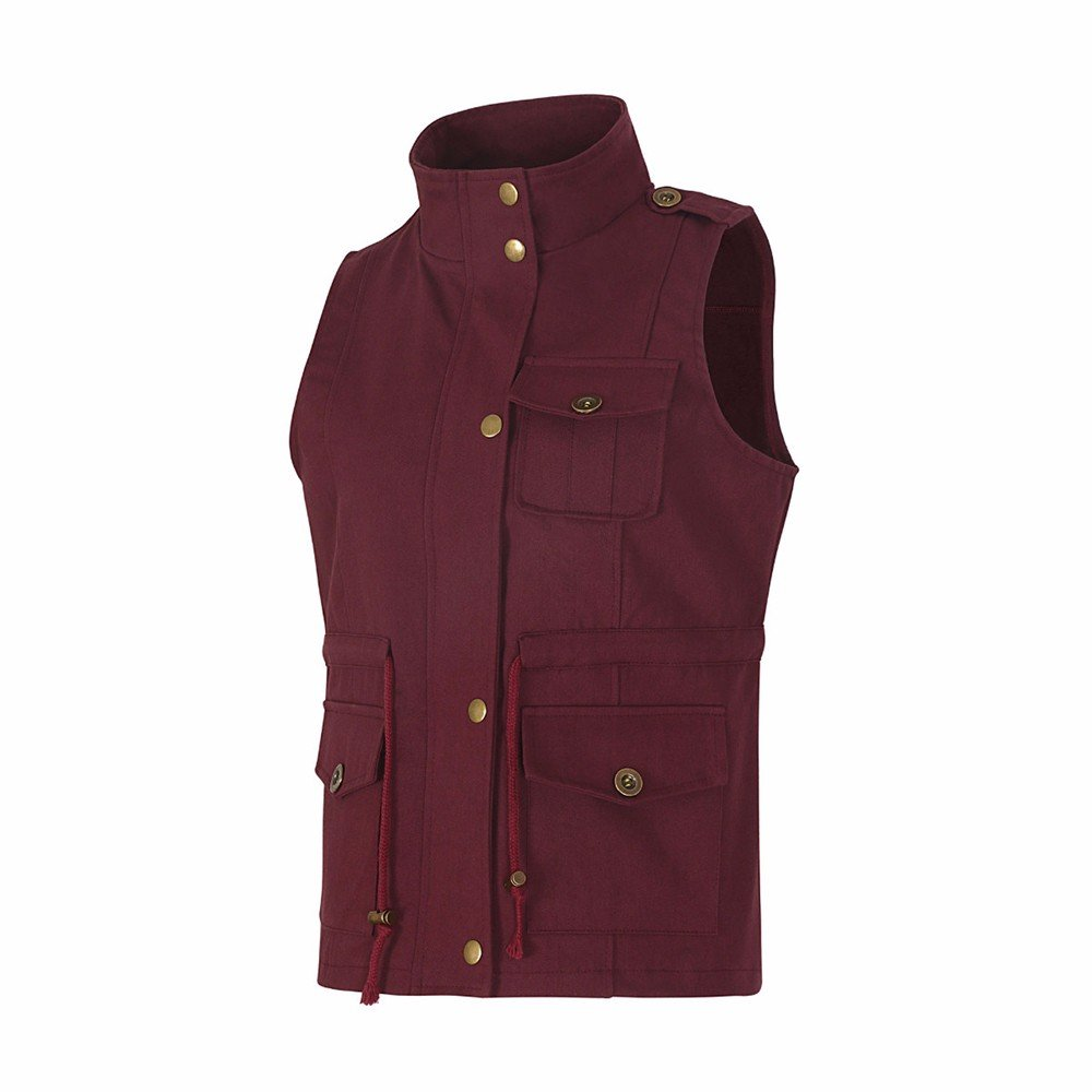 Vest For Women,Sleeveless Lightweight Stretchy Drawstring Jacket Cardigan With Zipper By Gergeos