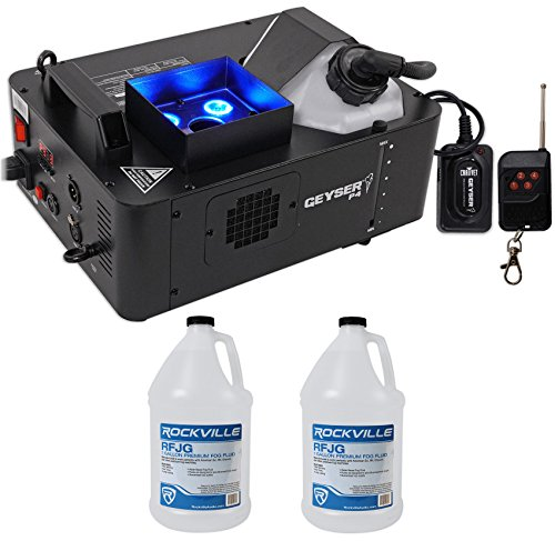 [Chauvet Geyser P4 DMX Fog Machine Fogger FX Light RGBA/UV+Remote+(2) Gal. Fluid] (Small Fog Machines)