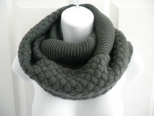 Dark Grey_NEW Cowl neck scarf Winter Infinity knit Shawl circle (US - Sunglasses Overdrive Electric