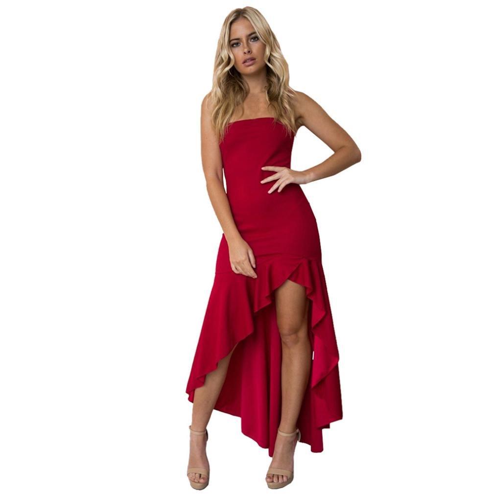 AmazingDays Damen Halfter äRmelloser Kleid Partykleid Minikleid ...