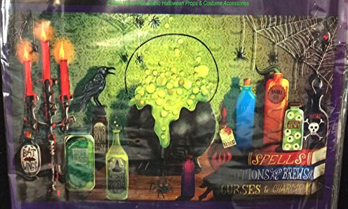 Scary Gothic WITCH DEN MURAL Potion Spell Wall