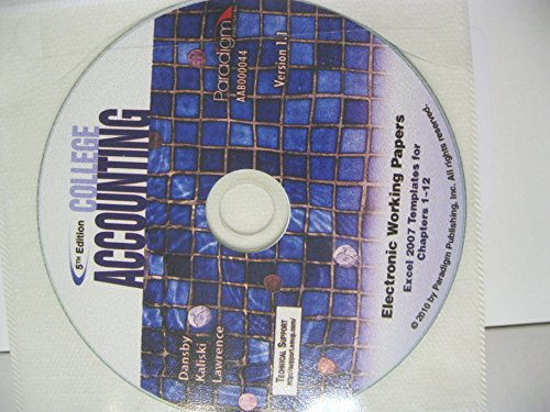College Accounting: Excel Working Papers CD, 1-12 ()