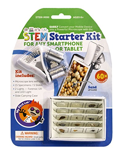 stem gifts for kids My First Lab STEM Starter Kit: Smartphone Microscope and 3D Slides