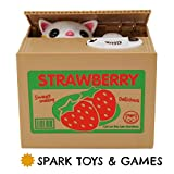 SPARK TOYS & GAMES - Stealing Kitty Cat Piggy Bank - Very Cute! - Steals Coins like Magic!