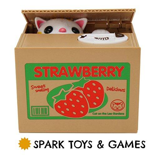 SPARK TOYS & GAMES – Stealing Kitty Cat Piggy Bank – Very Cute! – Steals Coins like Magic! 51 2Bv6MWI 2BUL