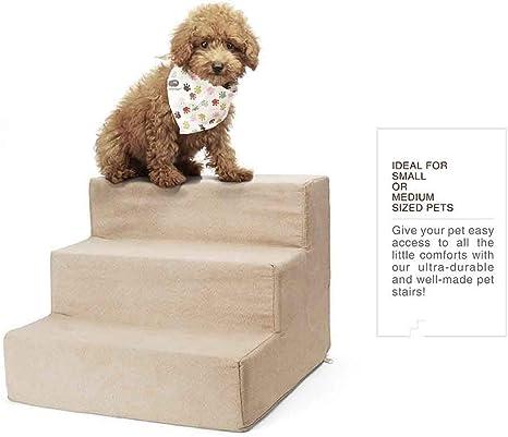 Youyababay 3 Pasos de Escalera para Mascota de Alta Resiliencia con Funda Extraíble Funda de Malla Transpirable extraíble, 40 * 30 * 38 cm: Amazon.es: Deportes y aire libre