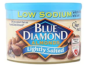 Blue Diamond Almonds, Lightly Salted, 6 Ounce (Pack of 6)