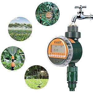 FIXKIT Programmatore di Irrigazione,Timer Irrigazione Automatico con LED Display, Elettrovalvola Irrigazione Giardino,Programmatore Irrigazione Fino a 30 Giorni 7 spesavip