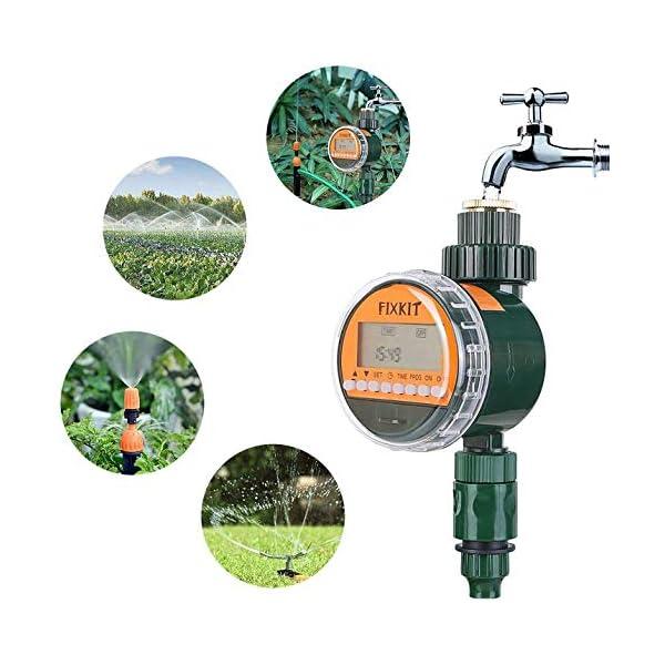 FIXKIT Programmatore di Irrigazione,Timer Irrigazione Automatico con LED Display, Elettrovalvola Irrigazione Giardino… 1 spesavip