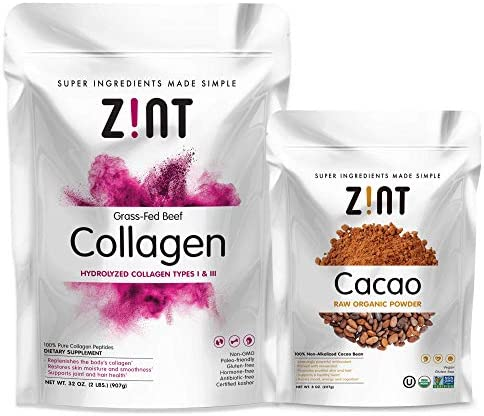 Zint Collagen Powder Cacao Paleo Friendly product image