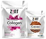 Zint Collagen Powder XL (32 oz) + Cacao Powder (8 oz): Paleo-Friendly, Keto-Certified Collagen Peptides Protein and Premium Organic Antioxidant Cacao